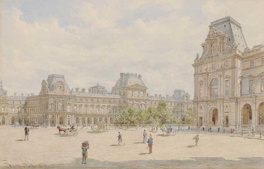 Старый, Франц. До Лувра в Париже - фото 1