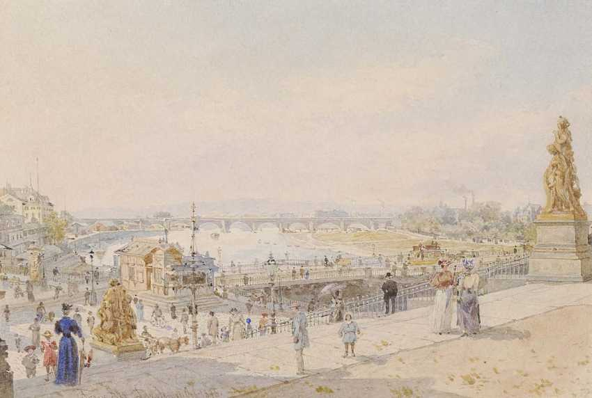 Alt, Franz. Dresden - view from the brühl's terrace on the Elbe - photo 1