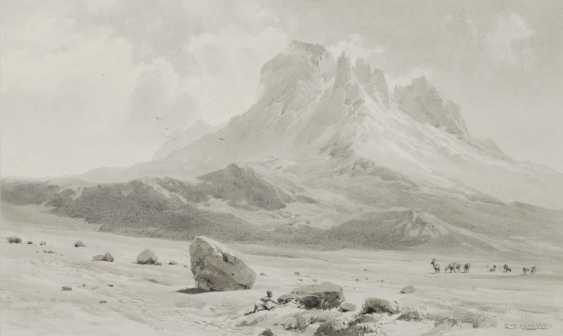 """COMPTON, EDWARD THEODORE. """"The Mawenzi (5355 mtr) of W. v. high plateaus (4360 mtr)"""" - photo 1"""