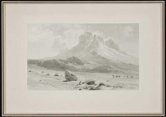 """COMPTON, EDWARD THEODORE. """"The Mawenzi (5355 mtr) of W. v. high plateaus (4360 mtr)"""" - photo 2"""