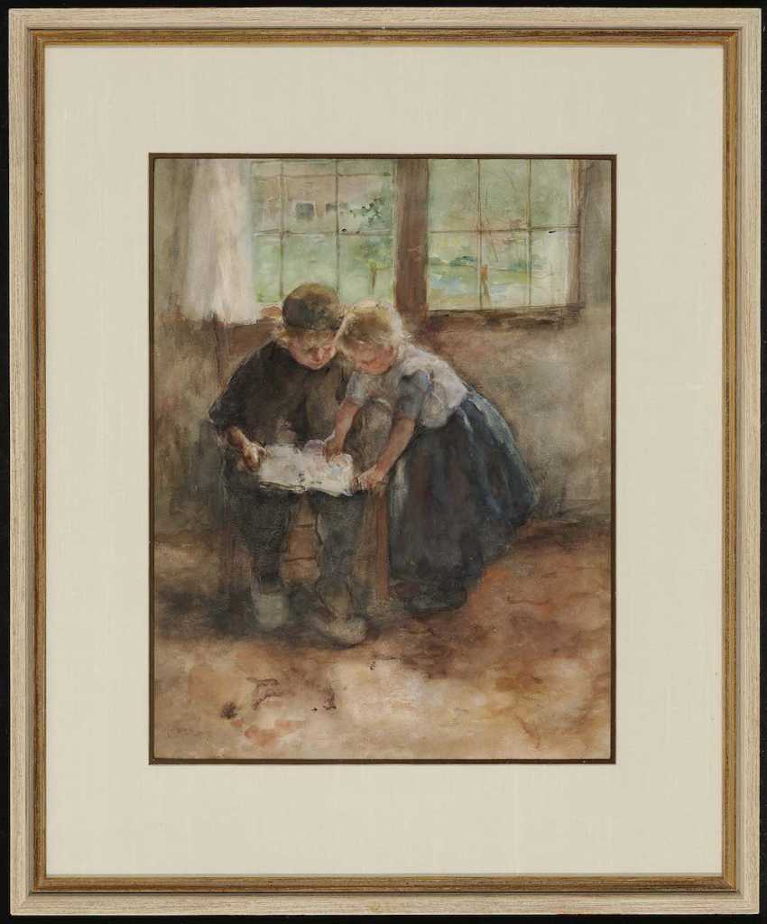 KEVER, JACOBUS SIMON HENDRIK (HEIN). Two children with book - photo 2