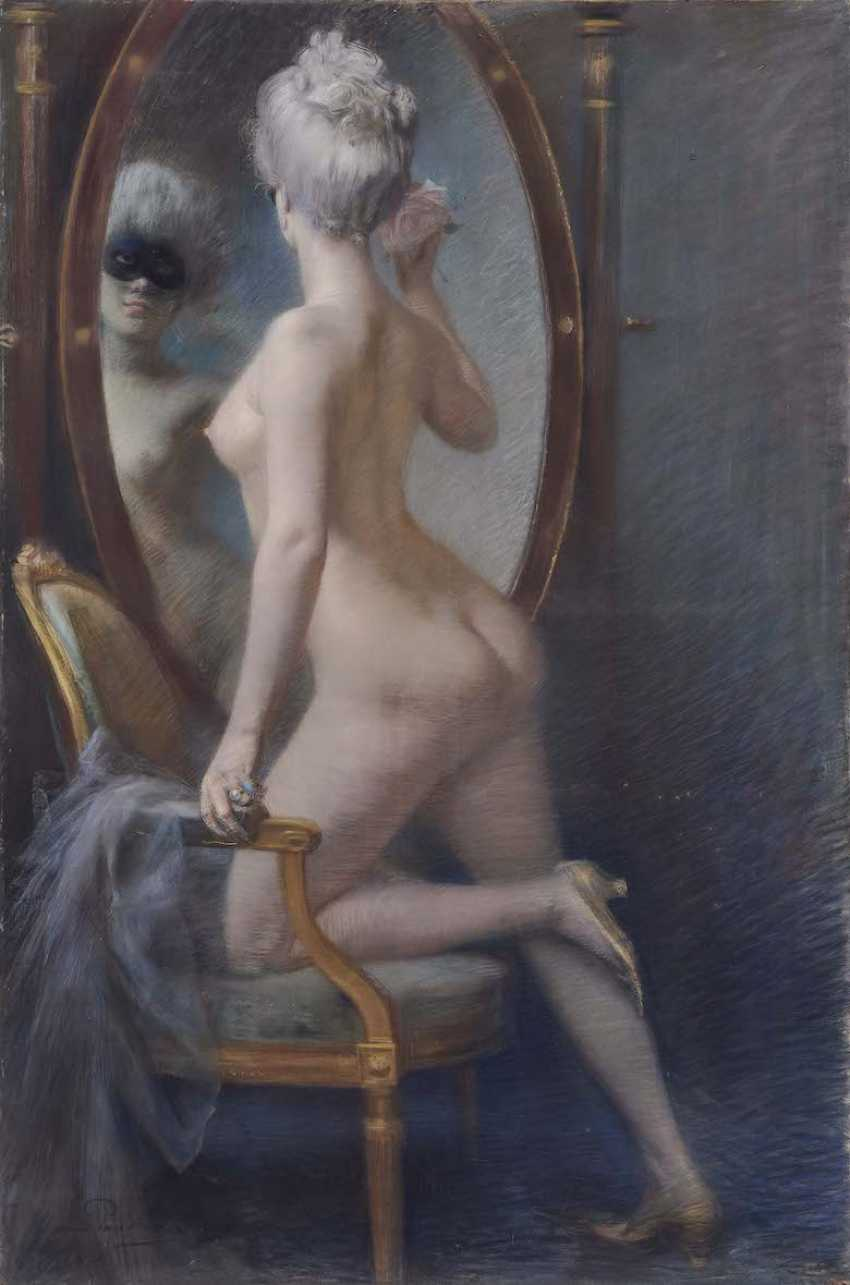 PAUSINGER, CLEMENT OF. Female Nude in front of the mirror - photo 1