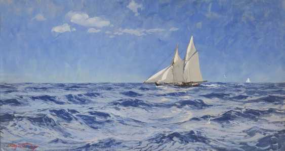 Saltzmann, Carl. Sailing boat on the high seas - photo 1