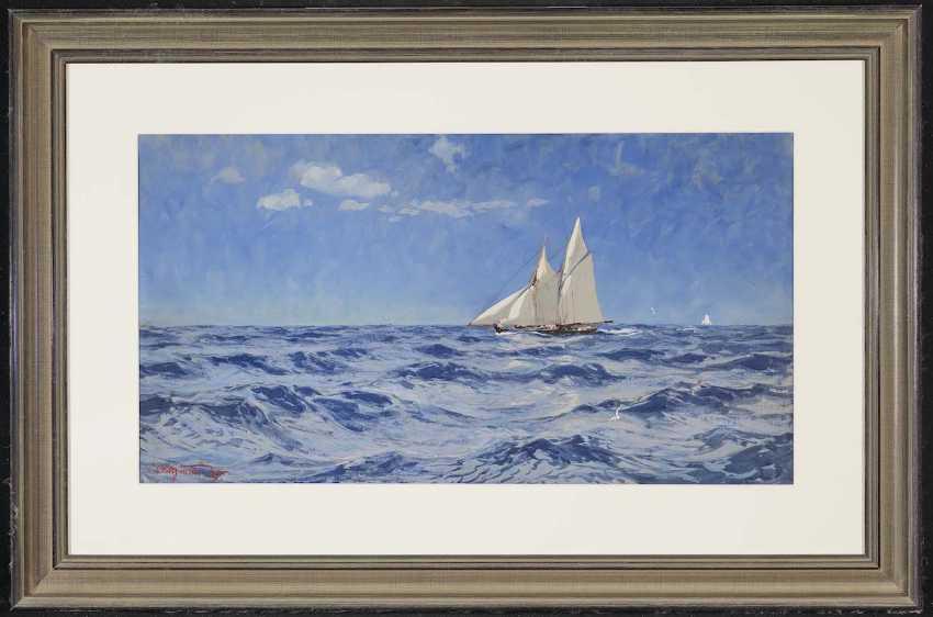 Saltzmann, Carl. Sailing boat on the high seas - photo 2
