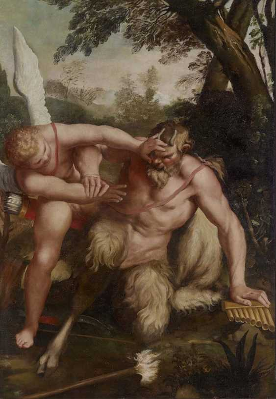 Carracci, Agostino, attributed to. Cupid defeated Pan - photo 1