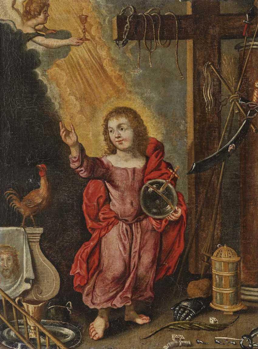 DEUTSCH Mitte 17. Jahrhundert Salvator Mundi - photo 1