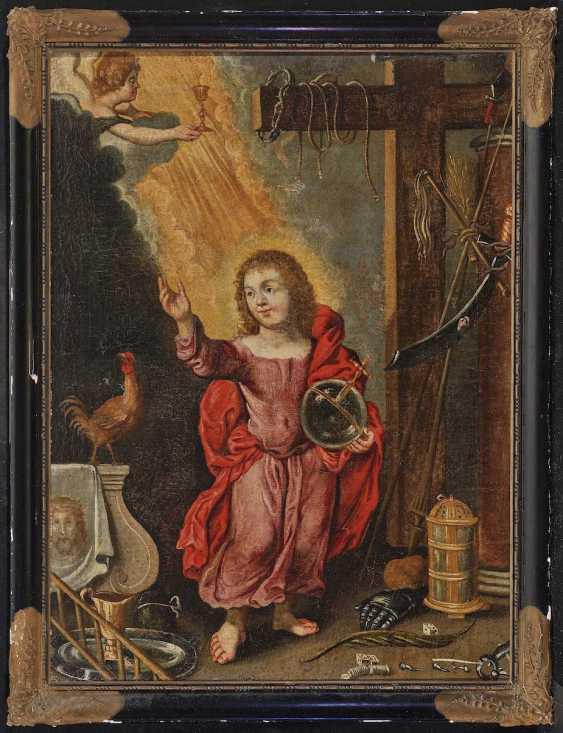 DEUTSCH Mitte 17. Jahrhundert Salvator Mundi - photo 2