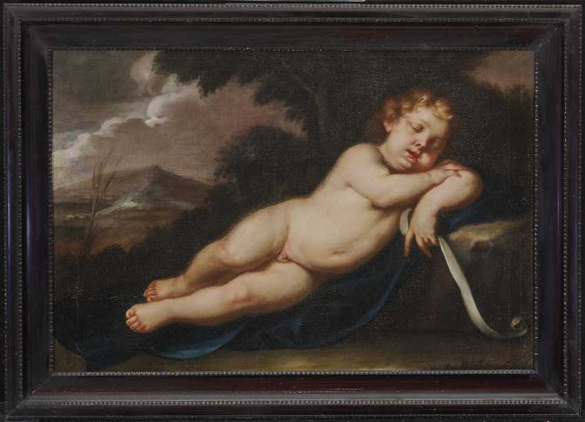ITALY 17. Century. Sleeping Jesus Child - photo 2