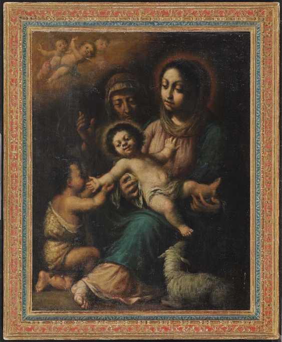 SPAIN 17. Century. Maria with the child, Saint John and the Hl. Elisabeth - photo 2