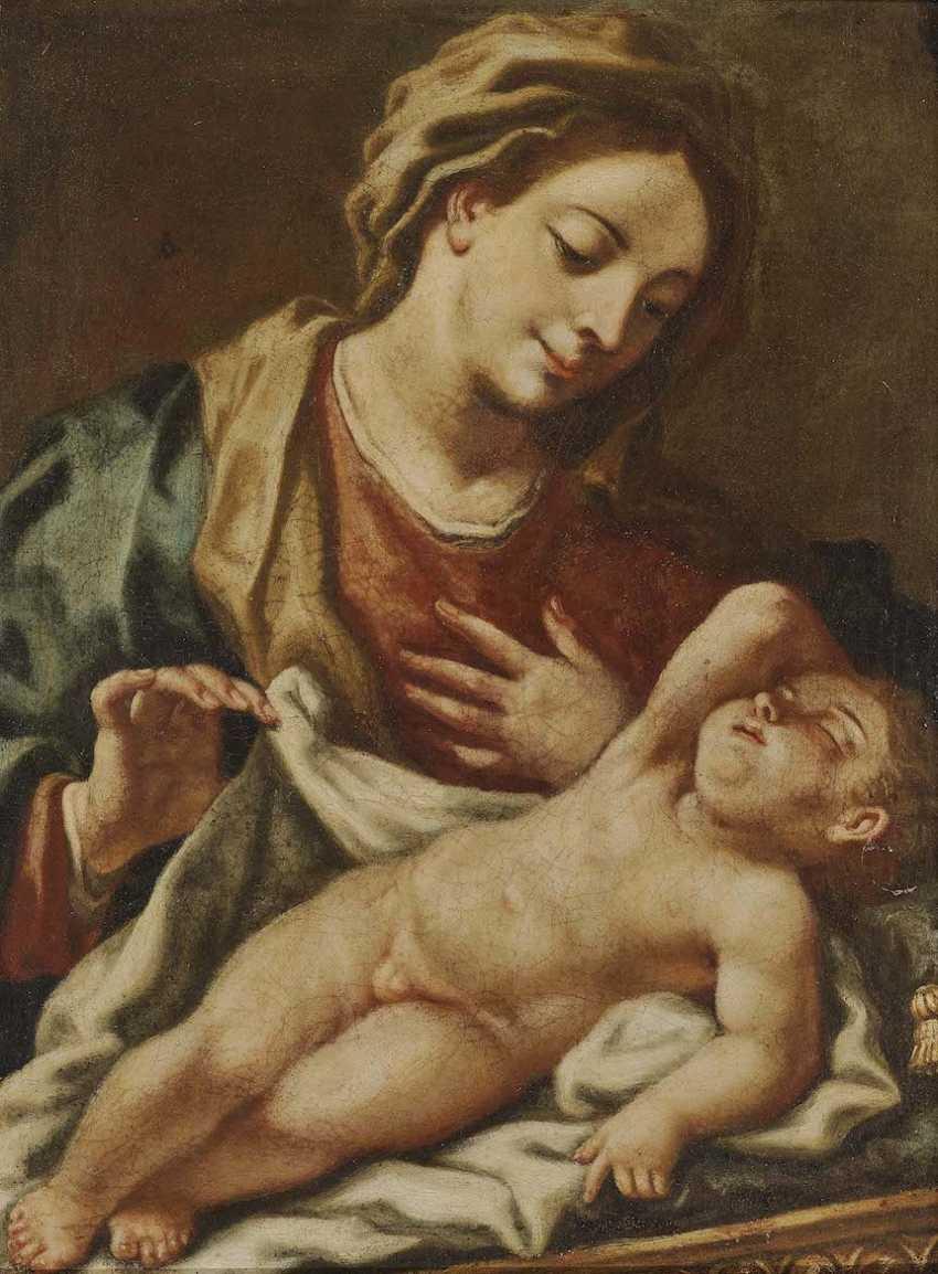 Italy 17./18. Century. Maria with the sleeping child Jesus - photo 2