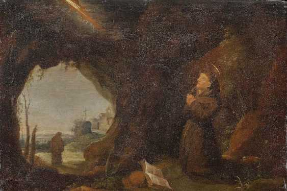 The NETHERLANDS 17. Century. Praying monk in a cave - photo 1