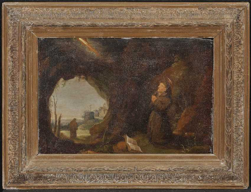 The NETHERLANDS 17. Century. Praying monk in a cave - photo 2