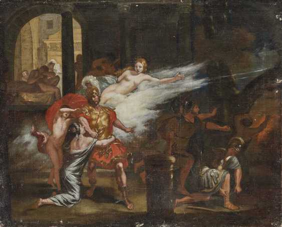 FRANCE (?) 17./18. Century. Hector bidding farewell to Andromache and his son Astyanax - photo 1