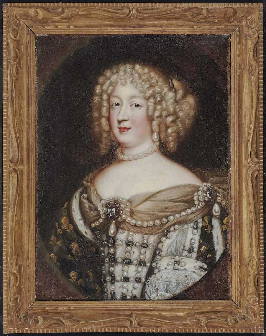 Nocret, Jean, attributed to. Queen Marie-Thérèse of France (1638 Madrid - 1683 Versailles) - photo 2