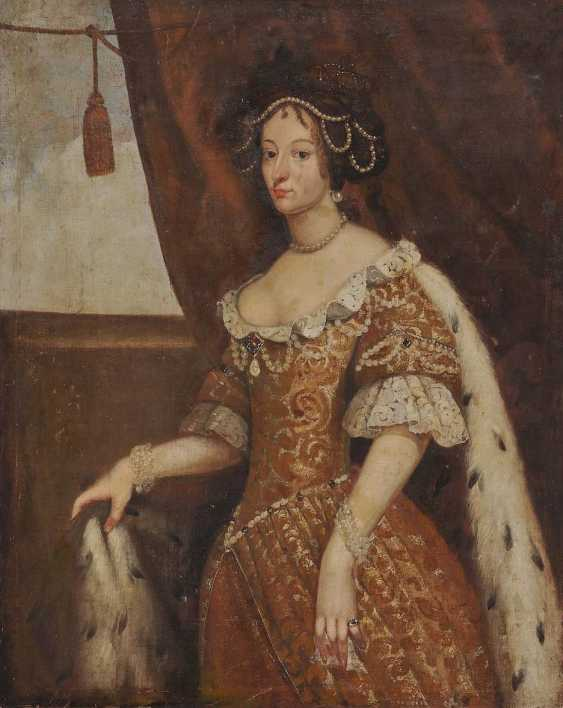 Unknown 17. Century. Portrait of a noblewoman with dog - photo 1