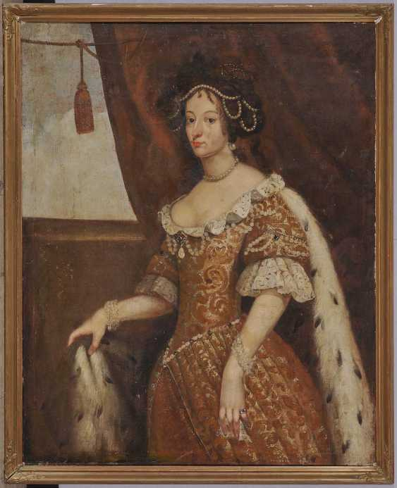 Unknown 17. Century. Portrait of a noblewoman with dog - photo 2