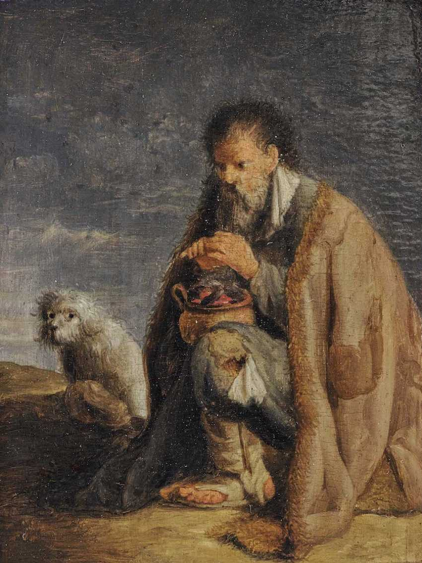 The NETHERLANDS 17. Century. Beggar with a coal pot and doggie - photo 1