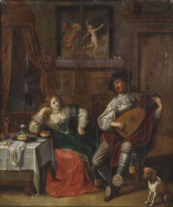 MOLENAER, JAN MIENSE, kind of . Interior with a young Couple - photo 1