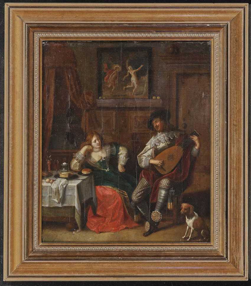 MOLENAER, JAN MIENSE, kind of . Interior with a young Couple - photo 2