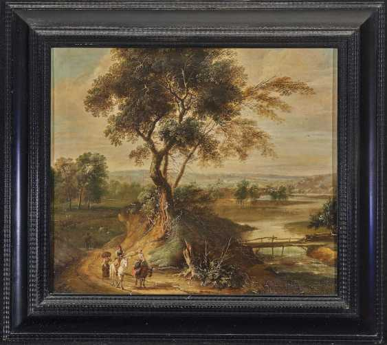 Wilden's, JAN, radius. A river landscape with travellers on a country road - photo 2