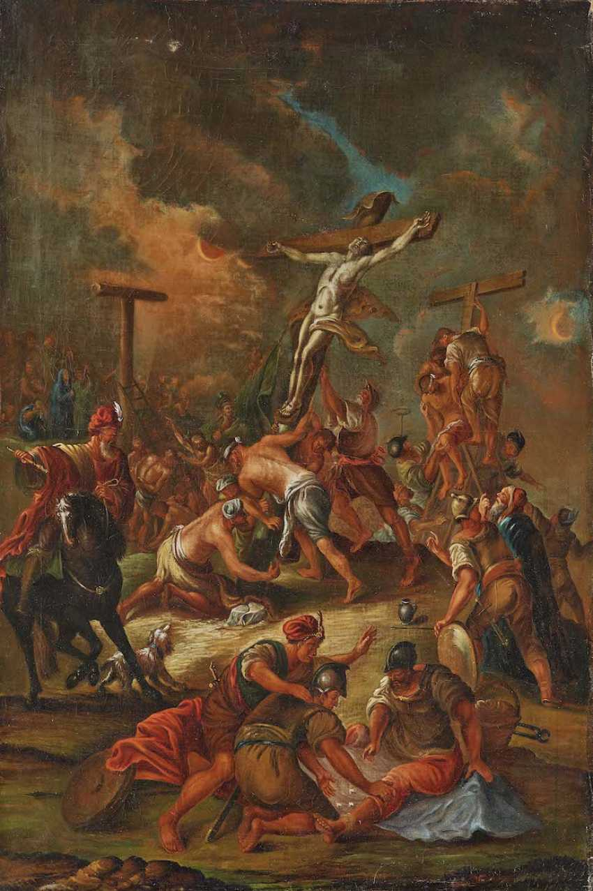 UNKNOWN 17./18. Century. Erection of the cross - photo 1