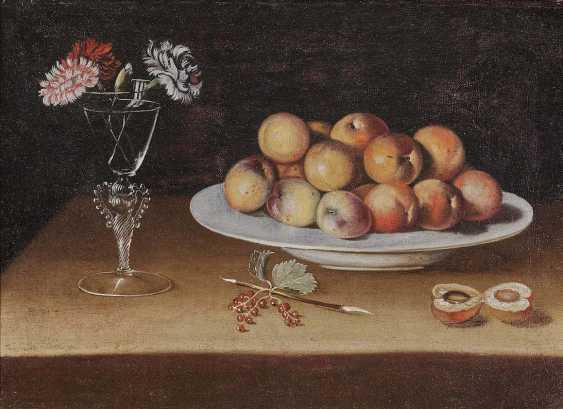 ZURBARÁN, JUAN DE, successor. Still life with peaches and cloves - photo 1