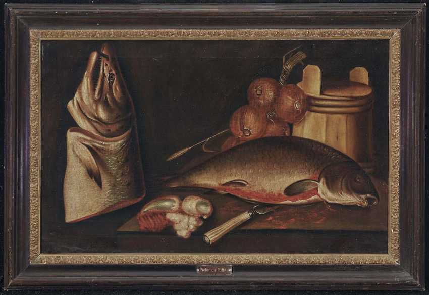 PUTTER, PIETER DE, attributed. Still life with fish and onions - photo 2