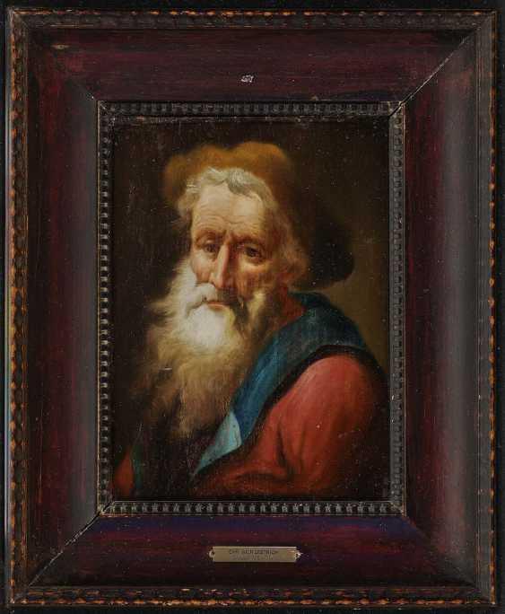 Dietrich, gene. Dietricy, Christian Wilhelm Ernst, Successor. Bearded with a fur cap - photo 2