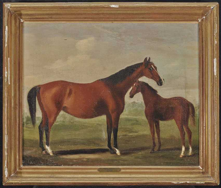 SARTORIUS, FRANCIS. Mare with foal - photo 2