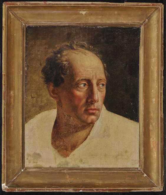 FRANKREICH Ende 18. Jahrhundert Studie nach einem Mann in mittleren Jahren - photo 2