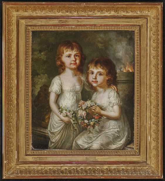 GEIGER, MARGARETHE (ANNA MARGARETHE). Portrait of two sisters with wreaths of flowers - photo 2
