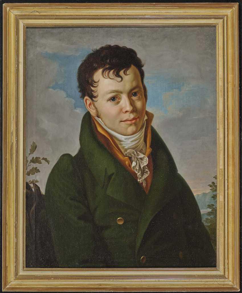 ENGLISH the beginning of the 19th. Century. Portrait of Heinrich Sigismund of Zeschau - photo 2