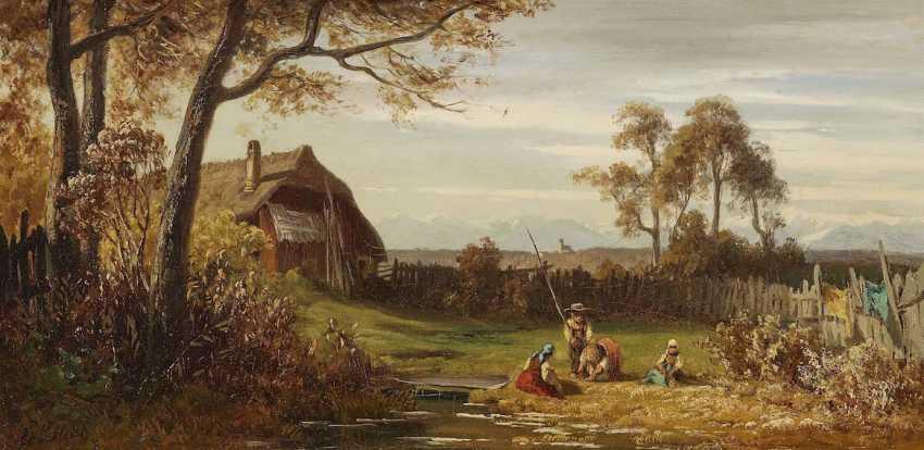 SCHLEICH d. Ä., EDUARD. Children playing in the garden - photo 1