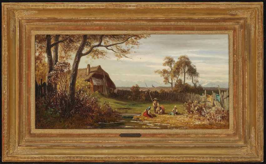 SCHLEICH d. Ä., EDUARD. Children playing in the garden - photo 2