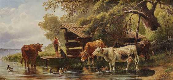 VOLTZ, JOHANN FRIEDRICH, attributed to. Angel of the shepherd-boy on the lake shore - photo 1