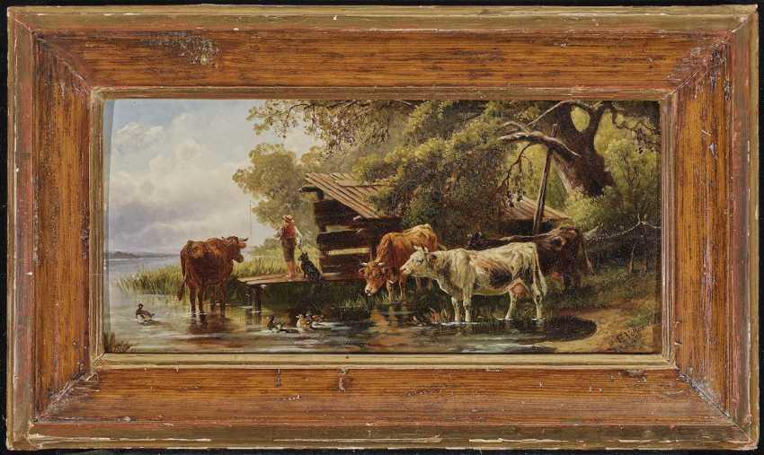VOLTZ, JOHANN FRIEDRICH, attributed to. Angel of the shepherd-boy on the lake shore - photo 2
