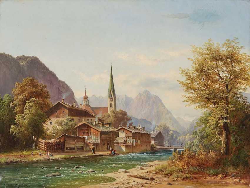 DOLL, ANTON. Mountain village on the river - photo 1