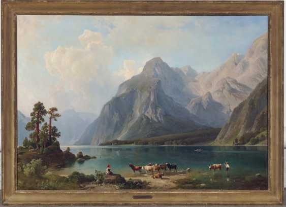 STEINIKE (STEINICKE), JOHANN HEINRICH LUDOLF, attributed to. Shepherds on the banks of the Royal lake - photo 2