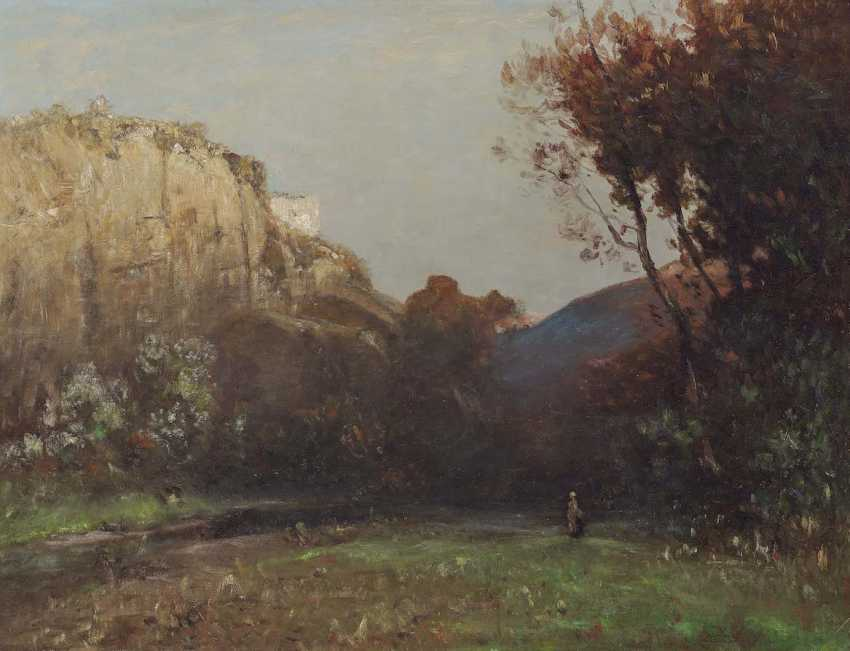 ROIDER, LUDWIG WANTS. Rocky landscape with figure staffage - photo 1