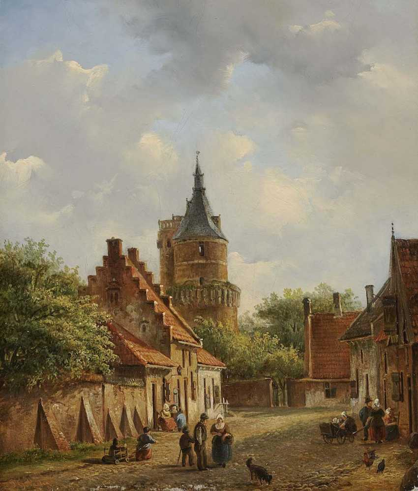 VERTIN, PIETER GERARD. Dutch Street Scene - photo 1