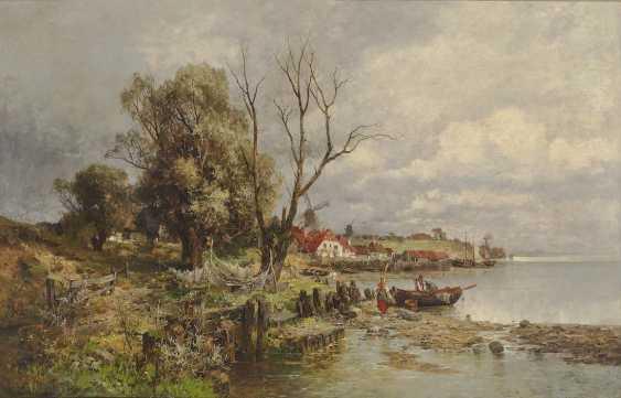 HEINISCH, KARL ADAM. Dutch coastal landscape with fishermen - photo 1
