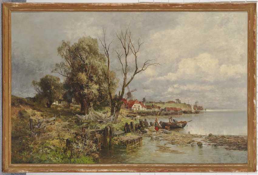 HEINISCH, KARL ADAM. Dutch coastal landscape with fishermen - photo 2