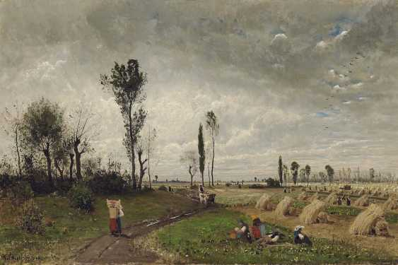 Buchholz, Karl. Landscape with peasant figure staffage - photo 1