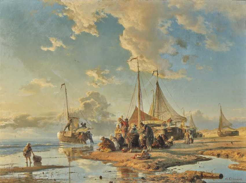 Achenbach, Andreas. Dutch fishermen after the catch - photo 1