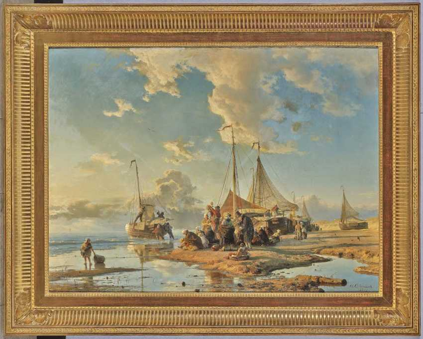 Achenbach, Andreas. Dutch fishermen after the catch - photo 2