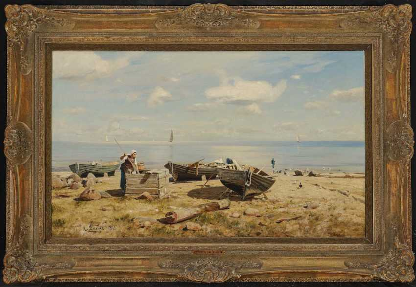 DÜCKER, EUGÈNE (EUGEN), GUSTAV. Fisherman's wife on the beach - photo 2