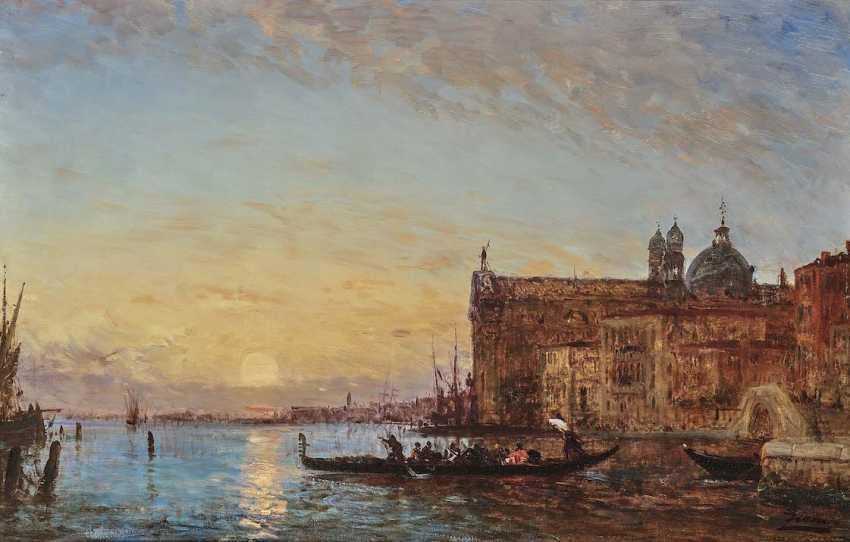 Ziem, Félix. Venedig - Der the Channel of the Giudecca mit Santa Maria del Rosario (I Gesuati) im Abendlicht - photo 1