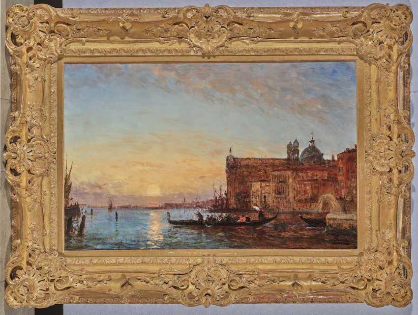 Ziem, Félix. Venedig - Der the Channel of the Giudecca mit Santa Maria del Rosario (I Gesuati) im Abendlicht - photo 2