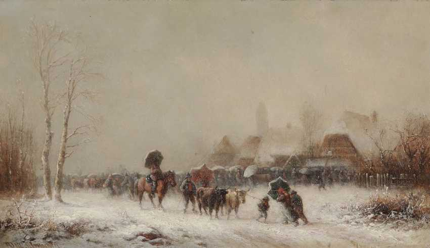 DOLL, ANTON. Cattle market in the snow - photo 1