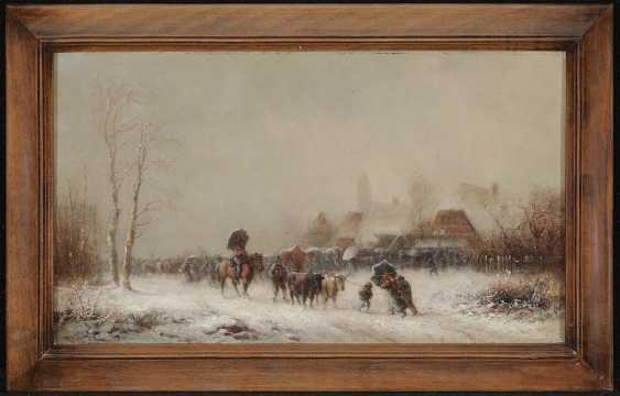 DOLL, ANTON. Cattle market in the snow - photo 2